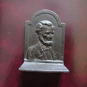 Abe Lincoln Metal Small Bookend